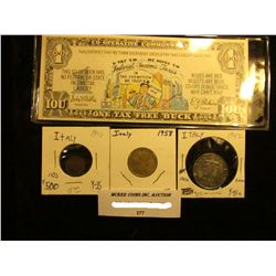 """""""1 Co-operative Commonwealth"""" Satirical Bank note """"This Certifies that we think everybody should pay"""