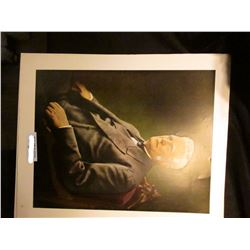 """14"""" x 17"""" Colored Portrait of John Deere from J.D. Moline Archives."""