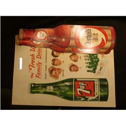 """Pair of """"Oertel's '92"""" Beer Signs; & a large """"7 up"""" Sign."""