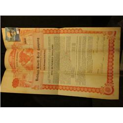 """First Mortgage $500 Gold Bond Hubbard-Kivett-Reid Company of Martinsville, Indiana"", Eagle litho at"
