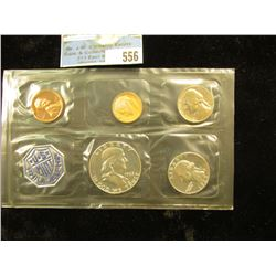 1963 P U.S. Proof Set in original cellophane as issued by the U.S. Mint. Heavily toned dime.