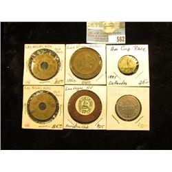 """1895 Defender Winner of America's Cup"" Pin-back; ""Horse Shoe Club Las Vegas Nev. 25c"" Gaming Chip;"