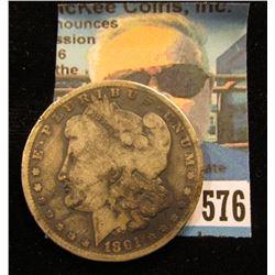 1891 O U.S. Morgan Silver Dollar, VG.