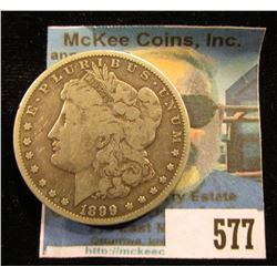 1899 O U.S. Morgan Silver Dollar, VG.