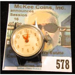 Mickey Mouse Ingersol Wristwatch Head, no band, Running condition.
