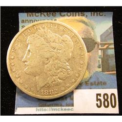 1882 P U.S. Morgan Silver Dollar. VG-Fine