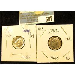(2) 1962 P Roosevelt Dime. FB-65