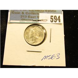 1945 S Normal S Mercury Dime MS-63