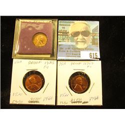 (3) 1970 S Low 7 Large Date Lincoln Cent    PF-66