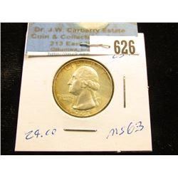 1947 P Washington Quarter MS-63