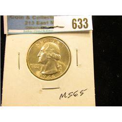 1946 D Washington Quarter MS-65
