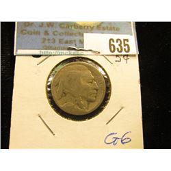 1916 S Buffalo Nickel G-6