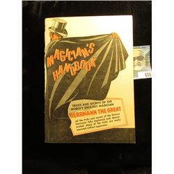 """1942 """"Magician's Handbook Tricks and Secrets of the World's Greatest Magician Hermann the Great All"""