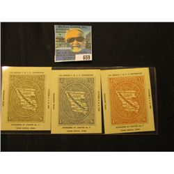 """(3) Different Scrip """"14th Annual T.M.P.S. Convention Oct. 3, 4, 5, 1947 Sponsored by Chapter No. 9 C"""