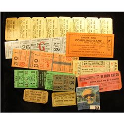"""(10) Different Circus tickets including """"Circus Kirk"""", """"Ringling Brothers Barnum & Bailey Combined S"""