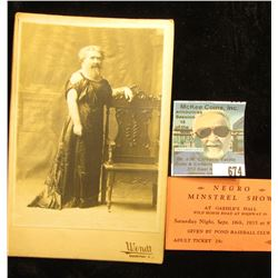 """""""Negro Minstrel Show at Gaehle's Hall…Adult Ticket 25c""""; & an early black & white photo of the """"Bear"""