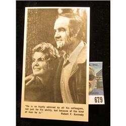 "Post card of Senator and Mrs. George McGovern autographed by ""Tom Eagleton"" (Former U.S. Sen. Thomas"