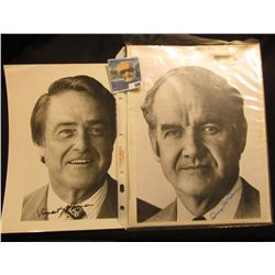 """Pair of autographed black & white 8"""" x 10"""" photos, one of which is George McGovern (1972)."""