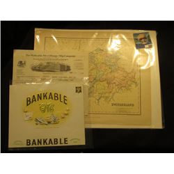 "Mint condition Cigar Box label ""Bankable CNC National Cigar Co. Frankfort, Ind.""; World War I era ma"
