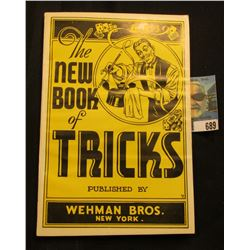 """""""The New Book of Tricks"""" published by Wehman Bros. New York."""