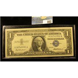 Series 1957 One Dollar Silver Certificate, CU.