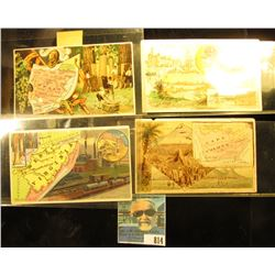 (4) Different advertising cards for Arbuckle Bros. Coffee Co., New York City. Includes West Virginia