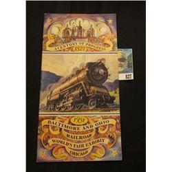 """A Century of Progress 1827 1934 Baltimore and Ohio Railroad World's Fair Exhibit Chicago"" Brochure."