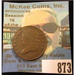 1828 U.S. Half Cent, VF.
