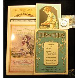 "1932 P Washington Quarter, Brilliant Uncirculated; booklet, ""Molasses and Syrup Secrets Compliments"