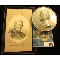 "Gen. Winfield Scott vignette & General Winfield Scott 2.5"" diameter Medal ""Entered According to Act"