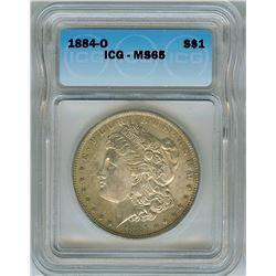 1884-O MORGAN SILVER DOLLAR  ICG MS65