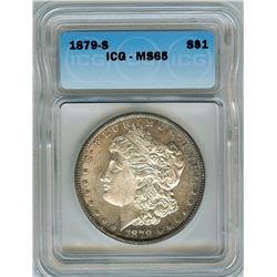 1879-S MORGAN SILVER DOLLAR  ICG MS65