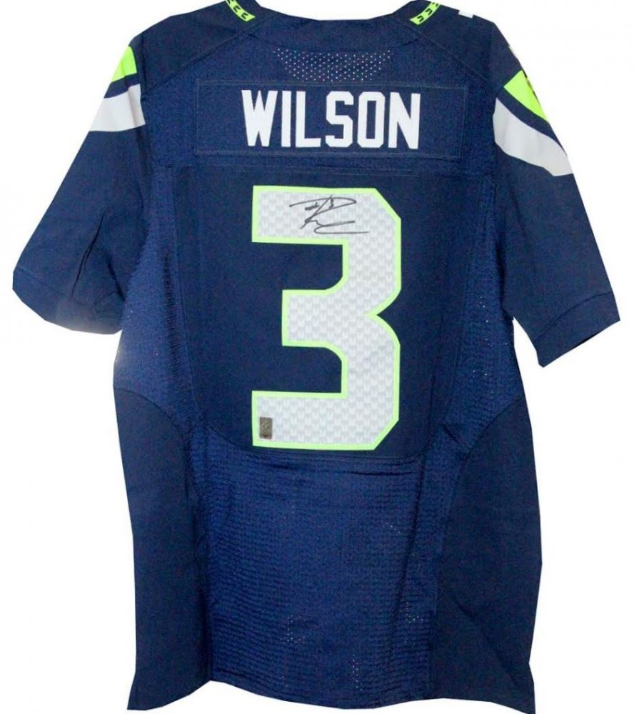 Russell Wilson Signed Seahawks Nike Elite Authentic Jersey ...