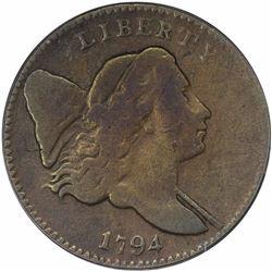 1794 Cohen-2b, Breen-2a. Large Edge Letters. Rarity-6. Fine-12 PCGS.