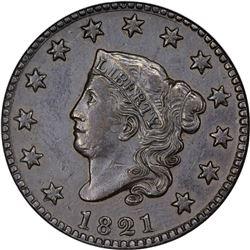 1821 N-2. Rarity-1. AU-58 BN NGC.