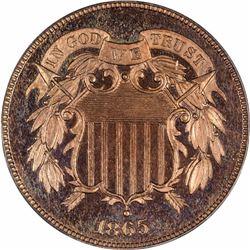 1865 Proof-65 RD PCGS.