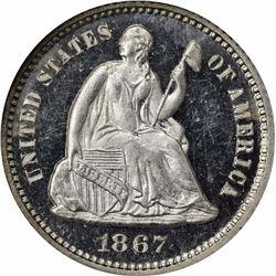 1867 Proof-65 Cameo NGC.