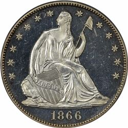 1866 With Motto. Proof-62 PCGS. OGH.