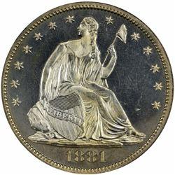 1881 Proof-64 Cameo NGC.