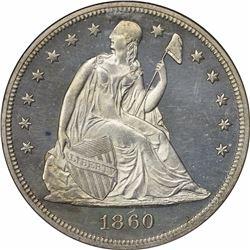 1860 Proof-63 Cameo NGC.