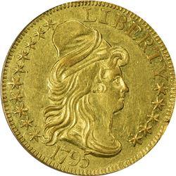 1795 Small Eagle. BD-8. Rarity-5+. AU-55 PCGS.