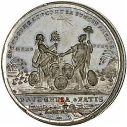 1783 Treaty of Paris Medal. MS65 NGC.