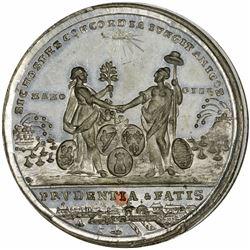 1783 Treaty of Paris Medal. MS65 NGC.