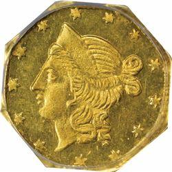 1856 N. Octagonal Half Dol., BG-310. MS64 PCGS. OGH.