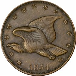 1854 Large Flying Eagle cent. J-165B. P-191. S-PT4. Rarity 7. PR62BN PCGS. Typical Proof (7: 2,3,2)