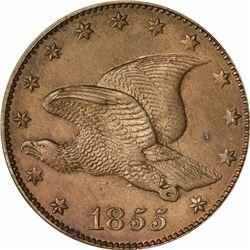 1855 Large Flying Eagle cent. J-169. P-194. S-PT1d. R-8. PR60 PCGS, OGH. Typical Proof (10: 3,3,4).