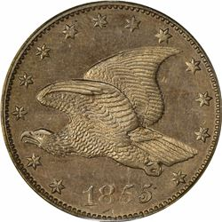 1855 Large Flying Eagle cent. J-170. J-196. S-PT1b-2. R-7. PR64 PCGS (PS), OGH. Choice Proof (9: 4,3