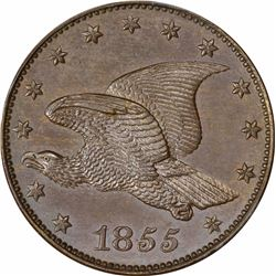 1855 Large Flying Eagle cent. J-172. S-PT2. Rarity 6. PR65BN PCGS (Eagle Eye Photo Seal).  Gem Proof