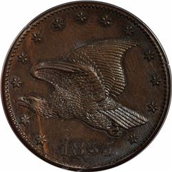 1855 Large Flying Eagle cent. J-173. P-198. S-PT2. Rarity 6. PR63BN PCGS (Eagle Eye Photo Seal).  Ch