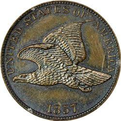 1857 Flying Eagle cent. J-187. P-223. S-PT1a. R8. PR63BN PCGS (PS), 1st. Gen Holder. Gem Proof (11: